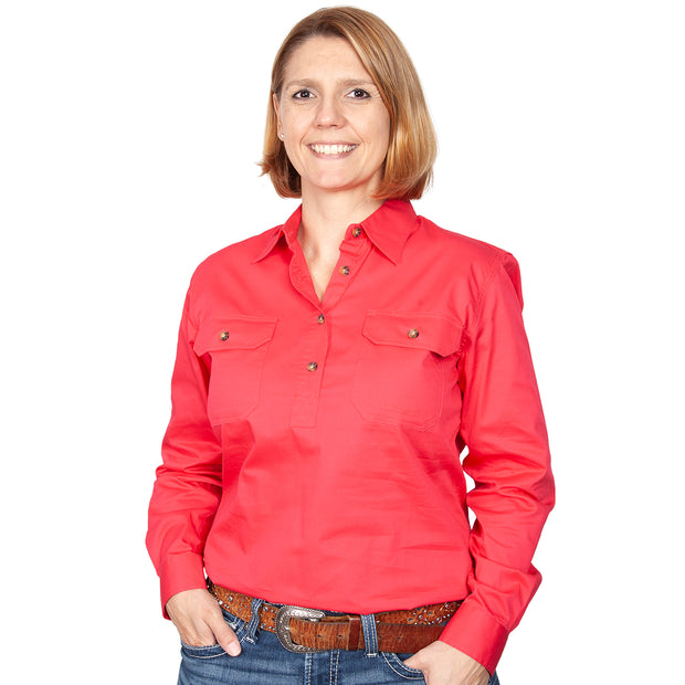 Just Country Workshirt Women's Jahna Raspberry front