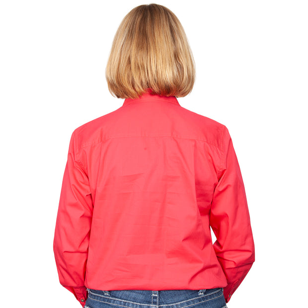 Just Country Workshirt Women's Jahna Raspberry back