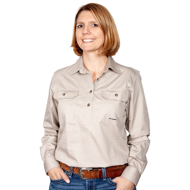 Just Country Workshirt Women's Jahna Stone front