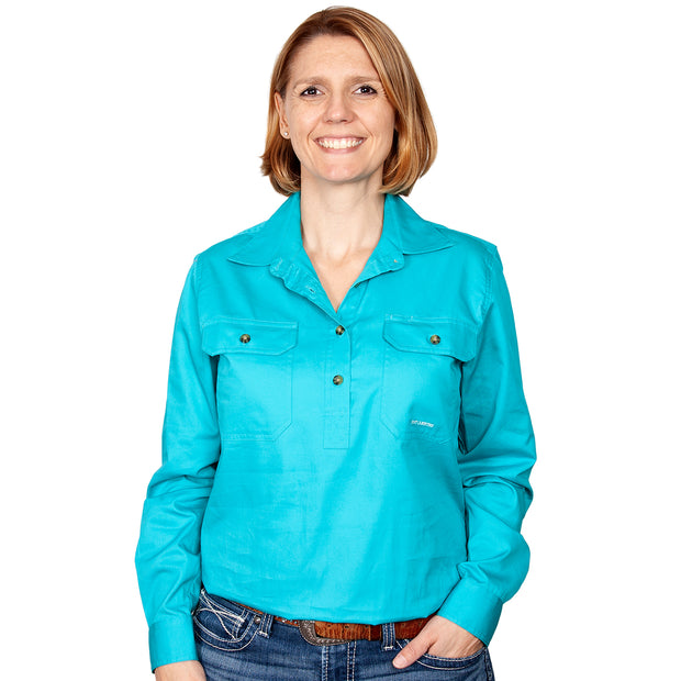 Just Country Workshirt Women's Jahna Turquoise front