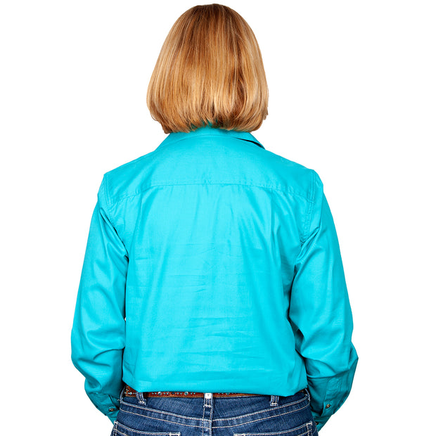 Just Country Workshirt Women's Jahna Turquoise back