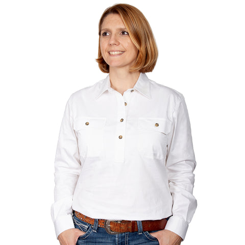 Just Country Workshirt Women's Jahna White front