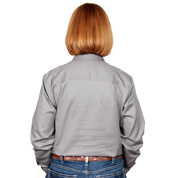 Just Country Australia Women's - Jahna - 1/2 Button Steel Grey back