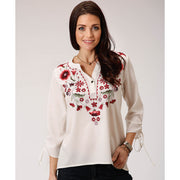 Roper Women's - Studio West Top - White 50565049 full