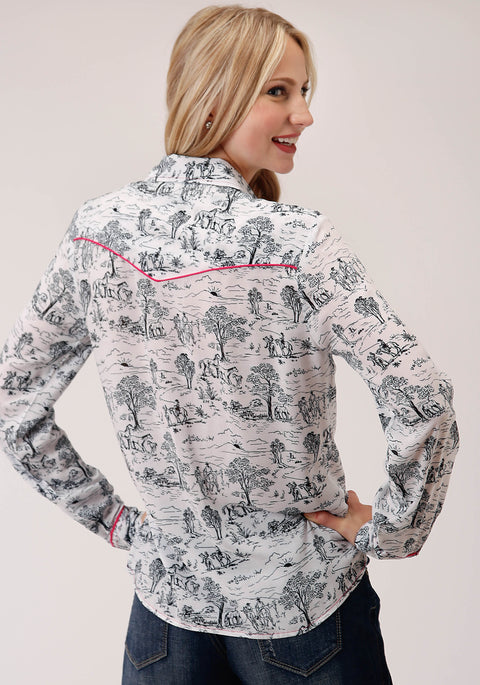 Roper Women's - Five Star Collection Shirt White 03-050-0590-2007 WH back