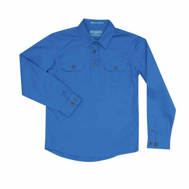 Just Country Workshirt Girl's Kenzie Blue Jewel