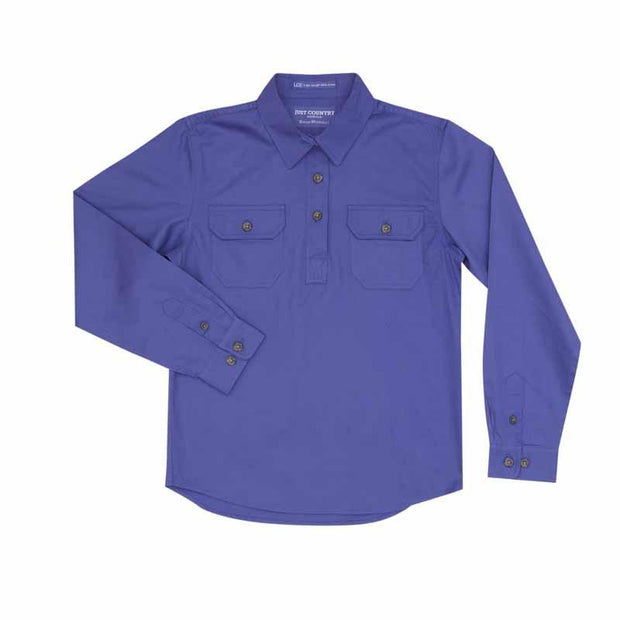 Just Country Workshirt Girl's Kenzie Blue