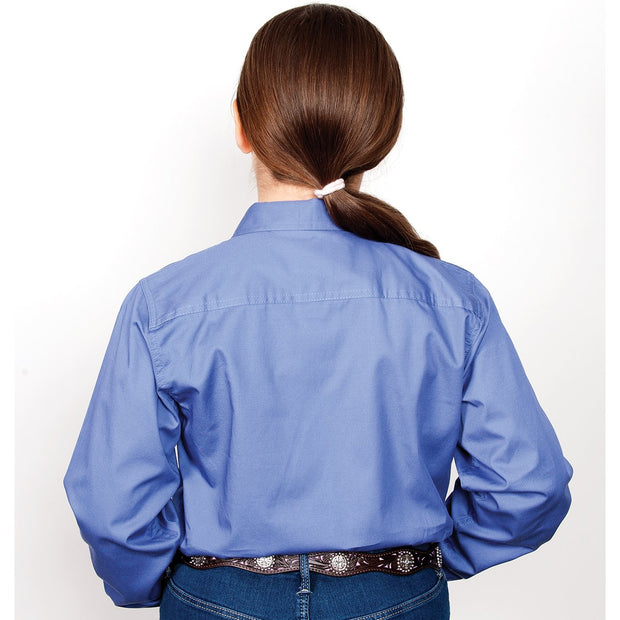 Just Country Workshirt Girl's Kenzie Blue 60606BLU
