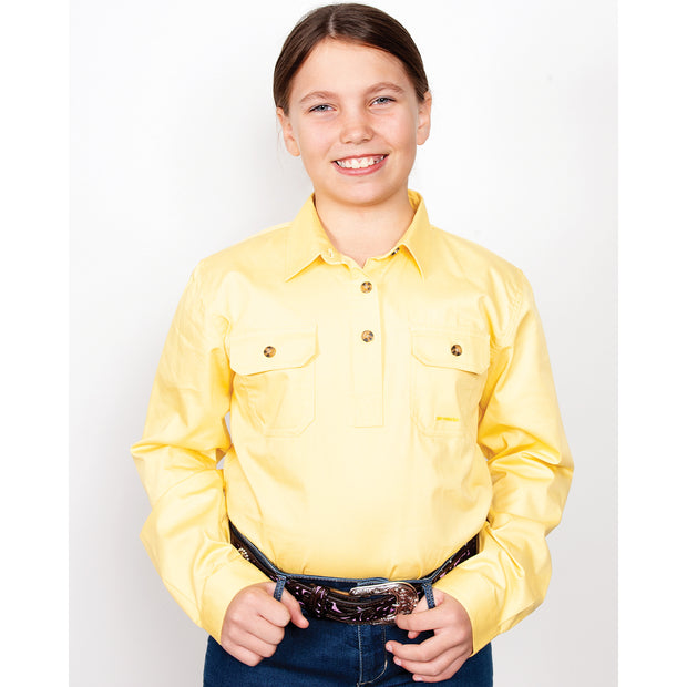 Just Country Workshirt Girl's Kenzie Butter 60606BUT