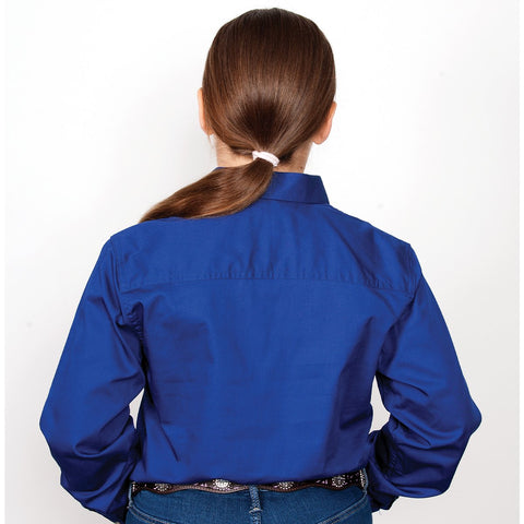 Just Country Girl's Workshirt Kenzie 1/2 Button - Cobalt 60606CBT  back
