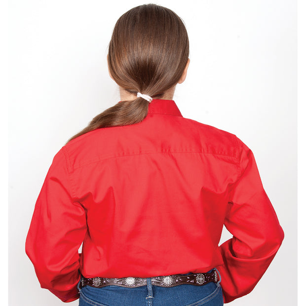 Just Country Workshirt Girl's Kenzie Chilli 60606CHI back