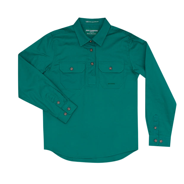 Just Country Girl's Kenzie Workshirt Dark Green