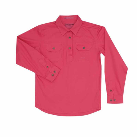 Just Country Workshirt Girl's Kenzie Hot Pink