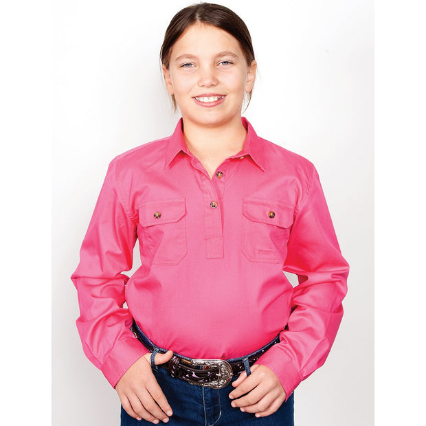Just Country Workshirt Girl's Kenzie Hot Pink 60606HPK
