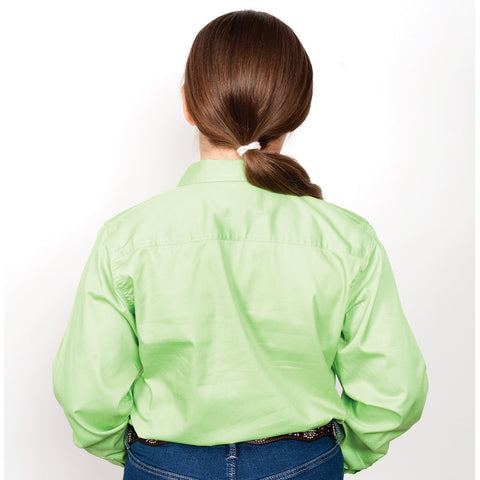 Just Country Workshirt Girl's Kenzie Lime 60606LGN back