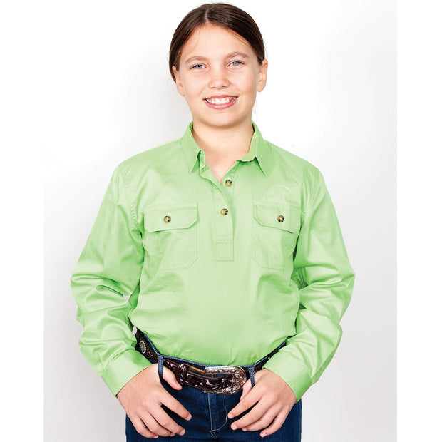 Just Country Workshirt Girl's Kenzie Lime 60606LGN