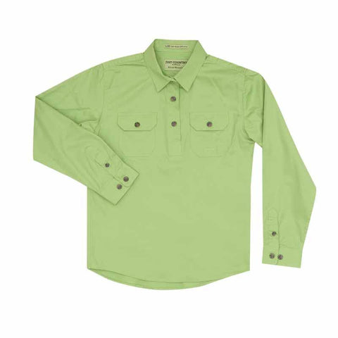 Just Country Workshirt Girl's Kenzie Lime