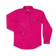 Just Country Workshirt Girl's Kenzie Magenta