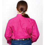 Just Country Workshirt Girl's Kenzie Magenta 60606MAG back
