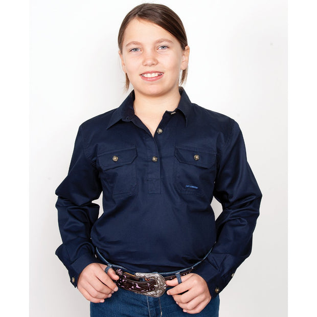 Just Country Workshirt Girl's Kenzie Navy 60606NVY