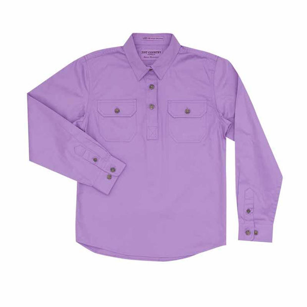 Just Country Workshirt Girl's Kenzie Orchid