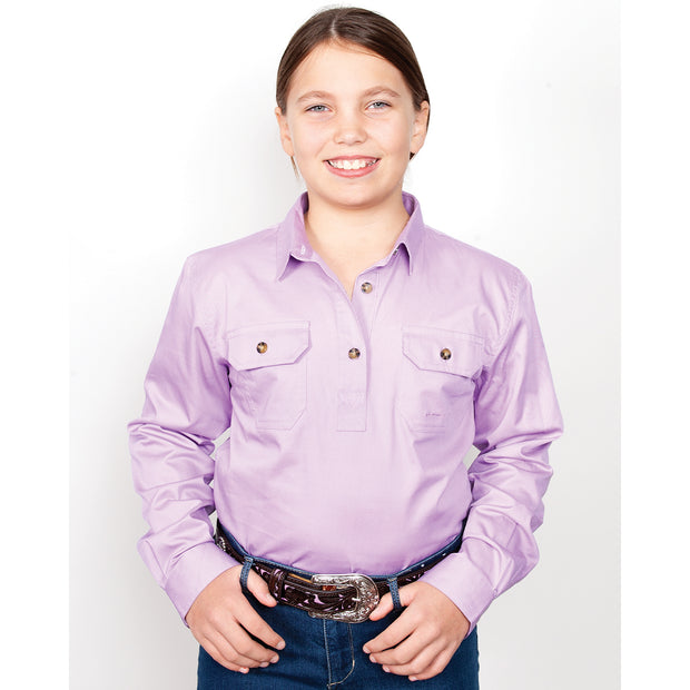 Just Country Workshirt Girl's Kenzie Orchid 60606OCD