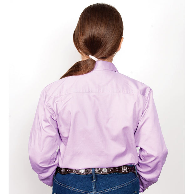 Just Country Workshirt Girl's Kenzie Orchid 60606OCD BACK