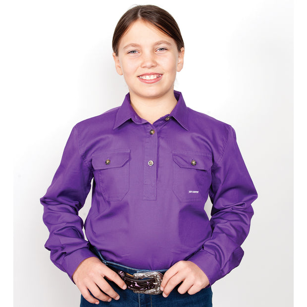 Just Country Workshirt Girl's Kenzie Purple 60606PUR