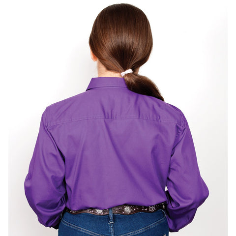 Just Country Workshirt Girl's Kenzie Purple 60606PUR back