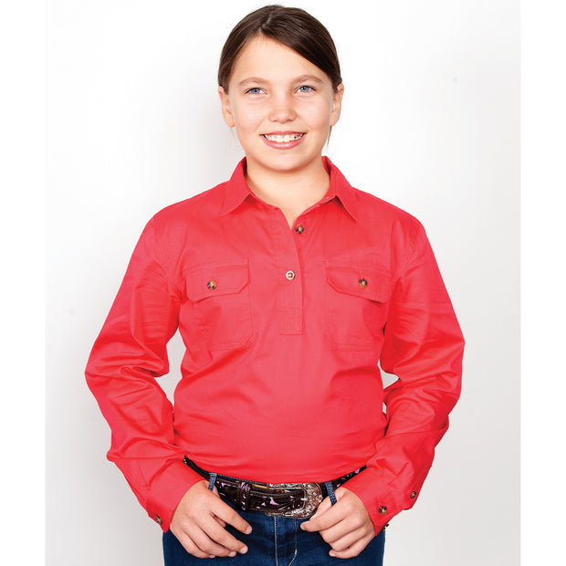 Just Country Workshirt Girl's Kenzie Raspberry 60606RAS