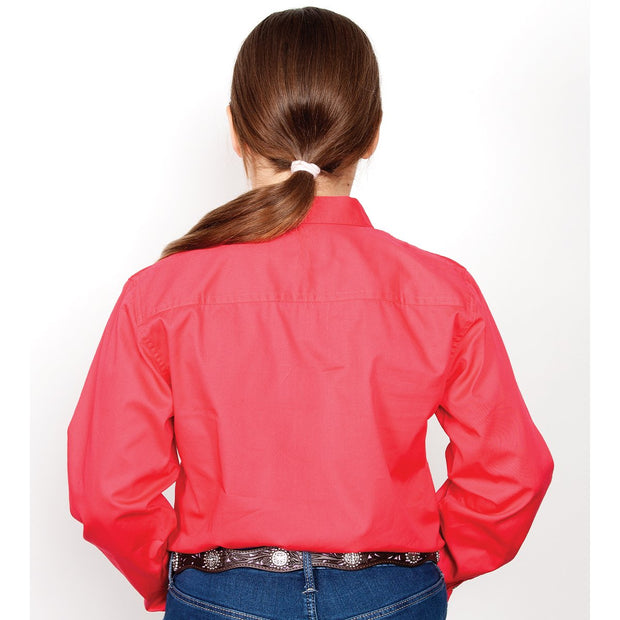 Just Country Workshirt Girl's Kenzie Raspberry 60606RAS back