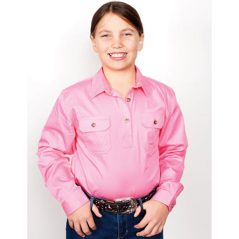 Just Country Workshirt Girl's Kenzie Rose 60606ROS