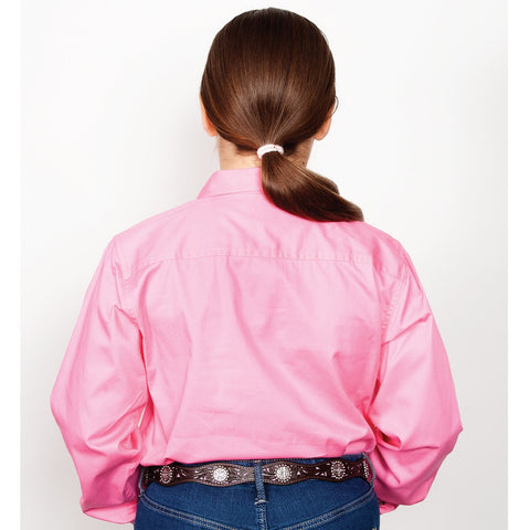 Just Country Workshirt Girl's Kenzie Rose 60606ROS BACK
