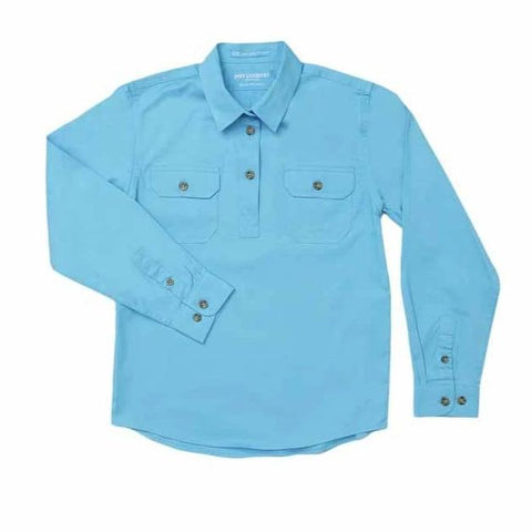 Just Country Workshirt Girl's Kenzie Sky