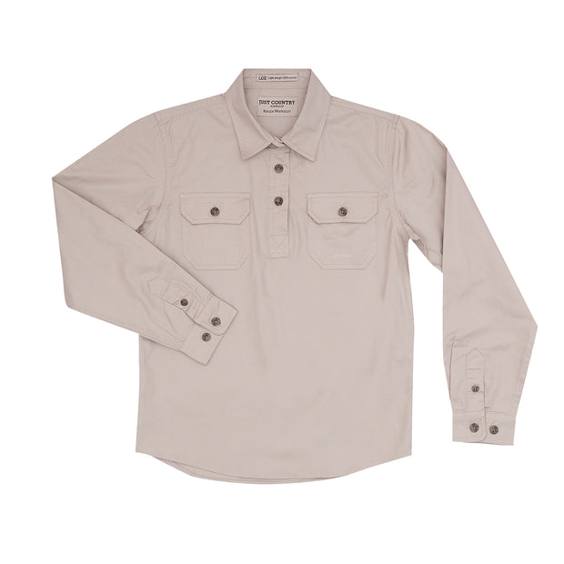 Just Country Girl's Kenzie Workshirt - Stone