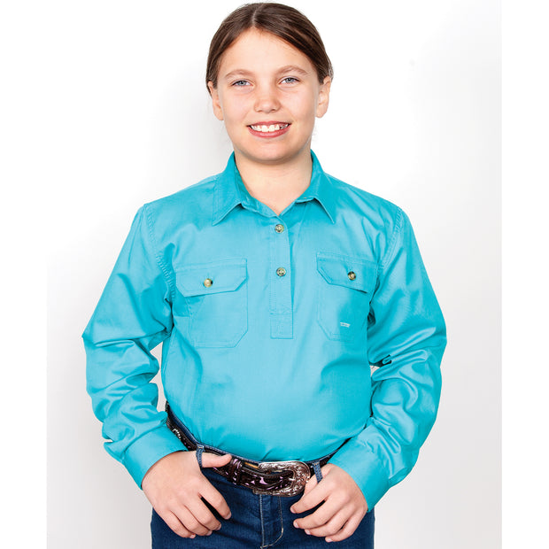 Just Country Workshirt Girl's Kenzie Turquoise 60606TUR