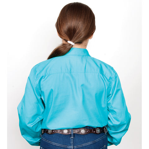 Just Country Workshirt Girl's Kenzie Turquoise 60606TUR back