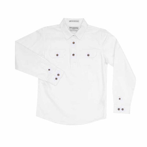 Just Country Workshirt Girl's Kenzie White