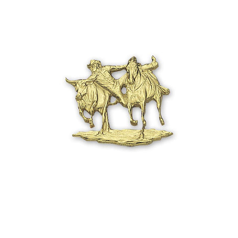 Montana Silversmiths Buckle Figure Steer Wrestler 652