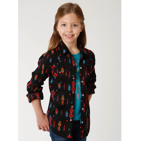 Roper Girl's - Amarillo Collection Shirt Black 03-080-0590-0163