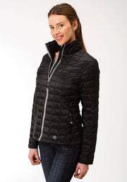 Roper Women's - Puffer Jacket Black 03-098-0693-6112 BL