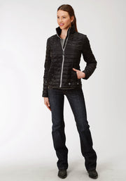 Roper Women's - Puffer Jacket Black 03-098-0693-6112 BL full