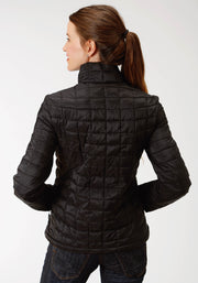 Roper Women's - Puffer Jacket Black 03-098-0693-6112 BL back