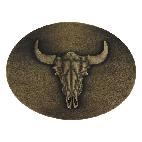 Montana Silversmiths Heritage Defined Buffalo Skull Attitude Belt Buckle A744C