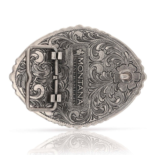Montana Silversmiths Pain Is Temporary Bull Riding Attitude Belt Buckle A829 back