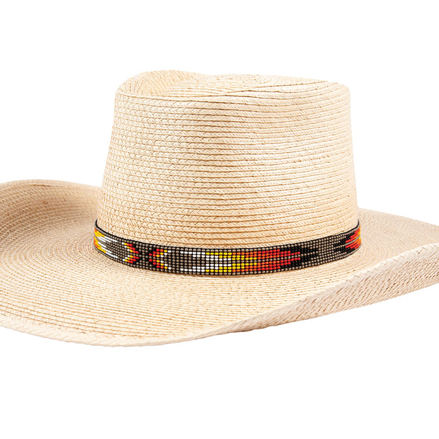 Sunbody Hat Band 9 Czech Bead Stretch Grey