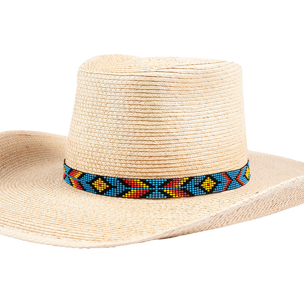 Sunbody Hat Band 9 Czech Bead Stretch Multi Diamond Chevron