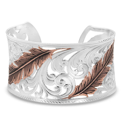 Montana Silversmiths Heavenly Whispers Feather Cuff Bracelet RG4341RG