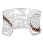 Montana Silversmiths Heavenly Whispers Feather Cuff Bracelet RG4341RG back
