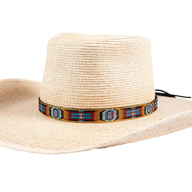 "Sunbody Hat Band Hitched Web 3/4"" Circle of Eyes Front"